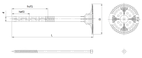Łącznik do mocowania termoizolacji z trzpieniem metalowym sotherm FIX
