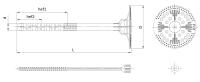 ącznik do mocowania termoizolacji z trzpieniem tworzywowym Isotherm Fix